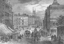 HOLBORN. Holborn Valley & Snow Hill before the viaduct. London c1880 old print